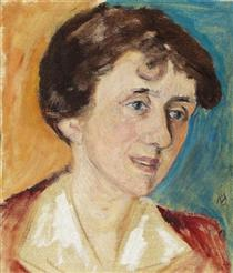 Porträt Frau Signe Hallberg - Gabriele Munter