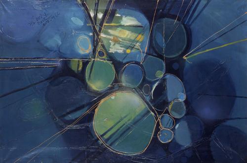 Green Abstract, 1966 - Gebre Kristos Desta
