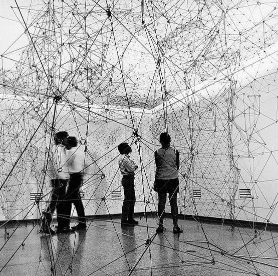 Reticulárea (installation view), 1969 - Gego