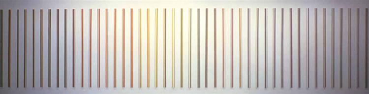 Color Needles, 1984 - Gene Davis