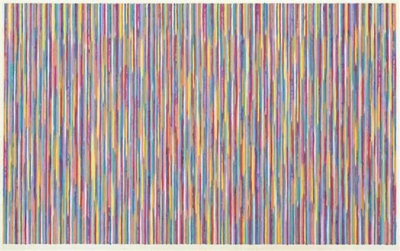 Monet's Garden, 1980 - Gene Davis