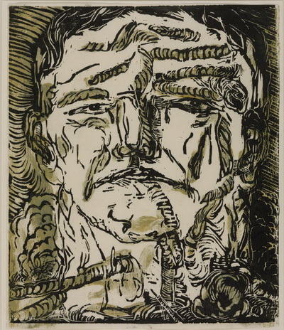 Large Head, 1966 - Georg Baselitz
