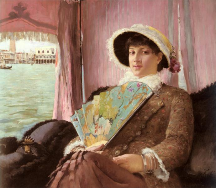 Girl in a Gondola - Georg Pauli