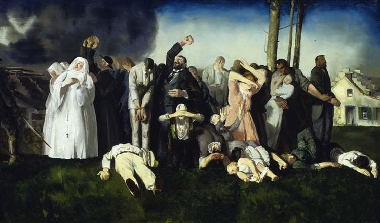 Massacre at Dinant, 1918 - George Wesley Bellows
