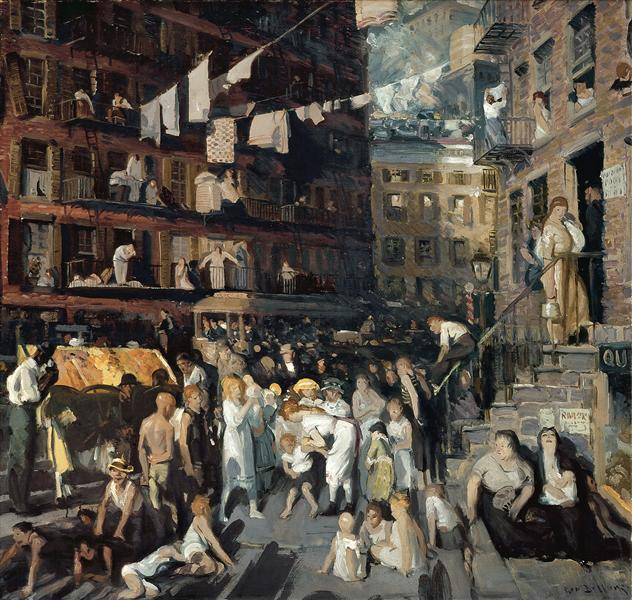 The Cliff Dwellers, 1913 - George Wesley Bellows