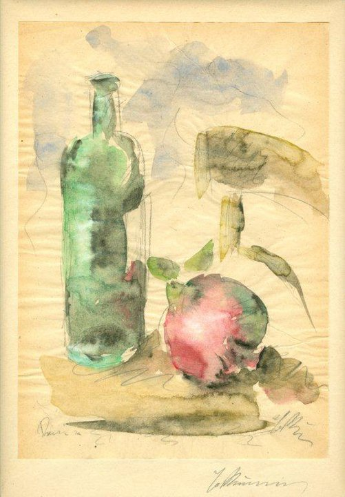Still Life with Pomegranate, Bottle and Chair, 1929