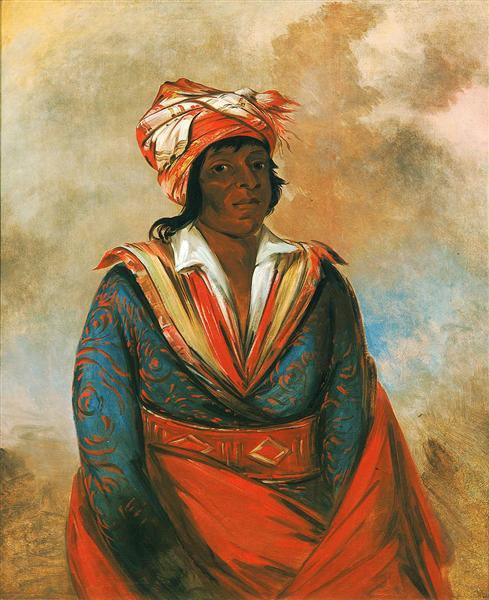 Kút-tee-o-túb-bee, How Did He Kill, a Noted Brave (Choctaw), 1834 - George Catlin