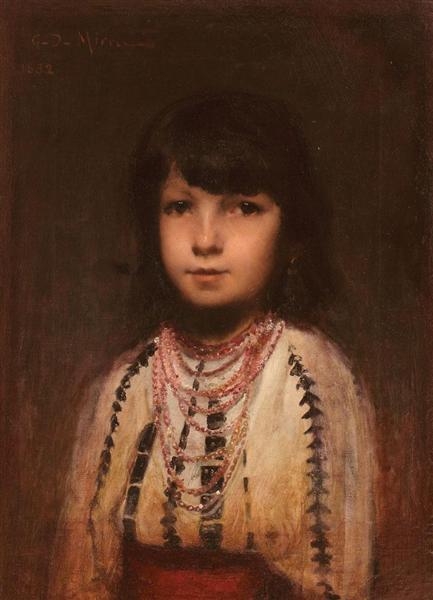 Portrait of a Girl, 1882 - George Demetrescu Mirea