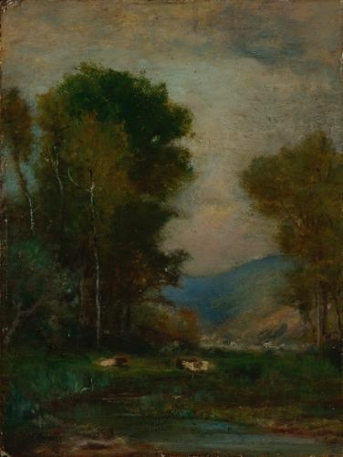 Cows by a Stream - George Inness