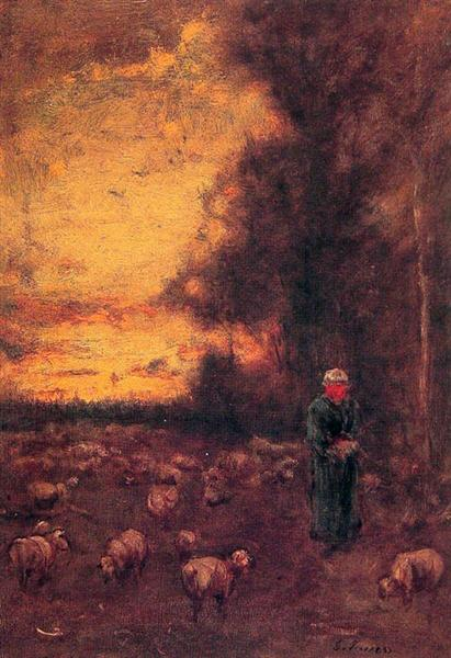 End of Day, 1855 - George Inness