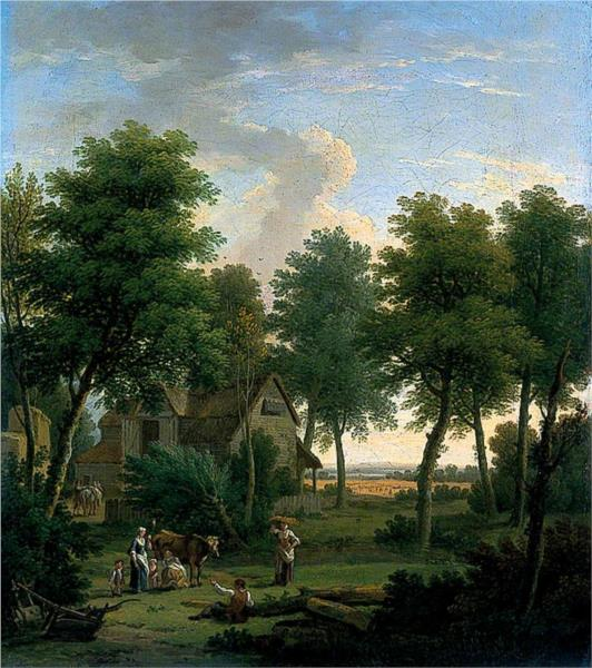 Pastoral Scene with a Peasant Family, 1753 - George Lambert