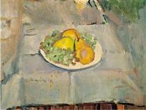 Plate with fruits - George Mavroides