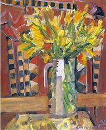 Vase with flowers - George Mavroides