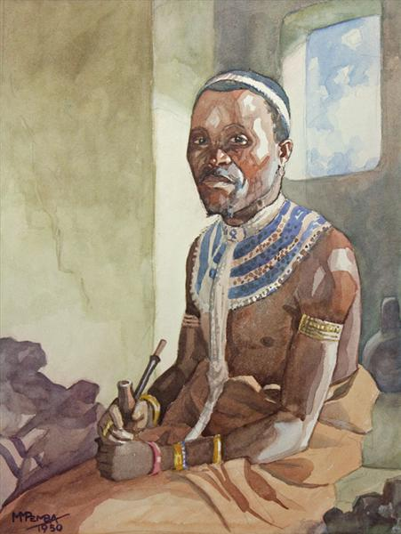 Portrait of a man in traditional dress, 1950 - George Pemba