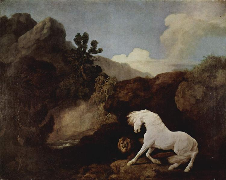 A Horse Frightened by a Lion, 1770 - George Stubbs