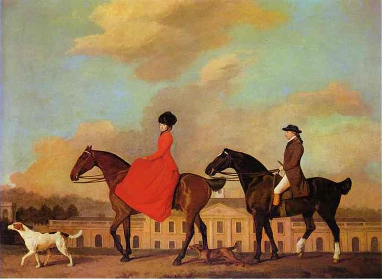John and Sophia Musters riding at Colwick Hall, 1777 - George Stubbs