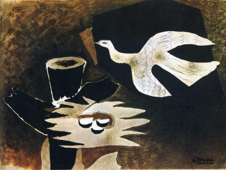 Пташка повертається до гнізда, 1956 - Жорж Брак