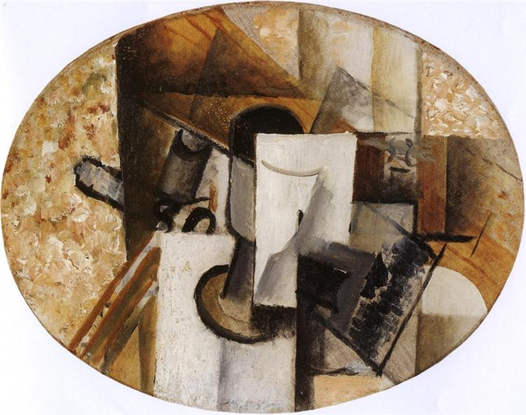 Glass and Card, c.1913 - Georges Braque