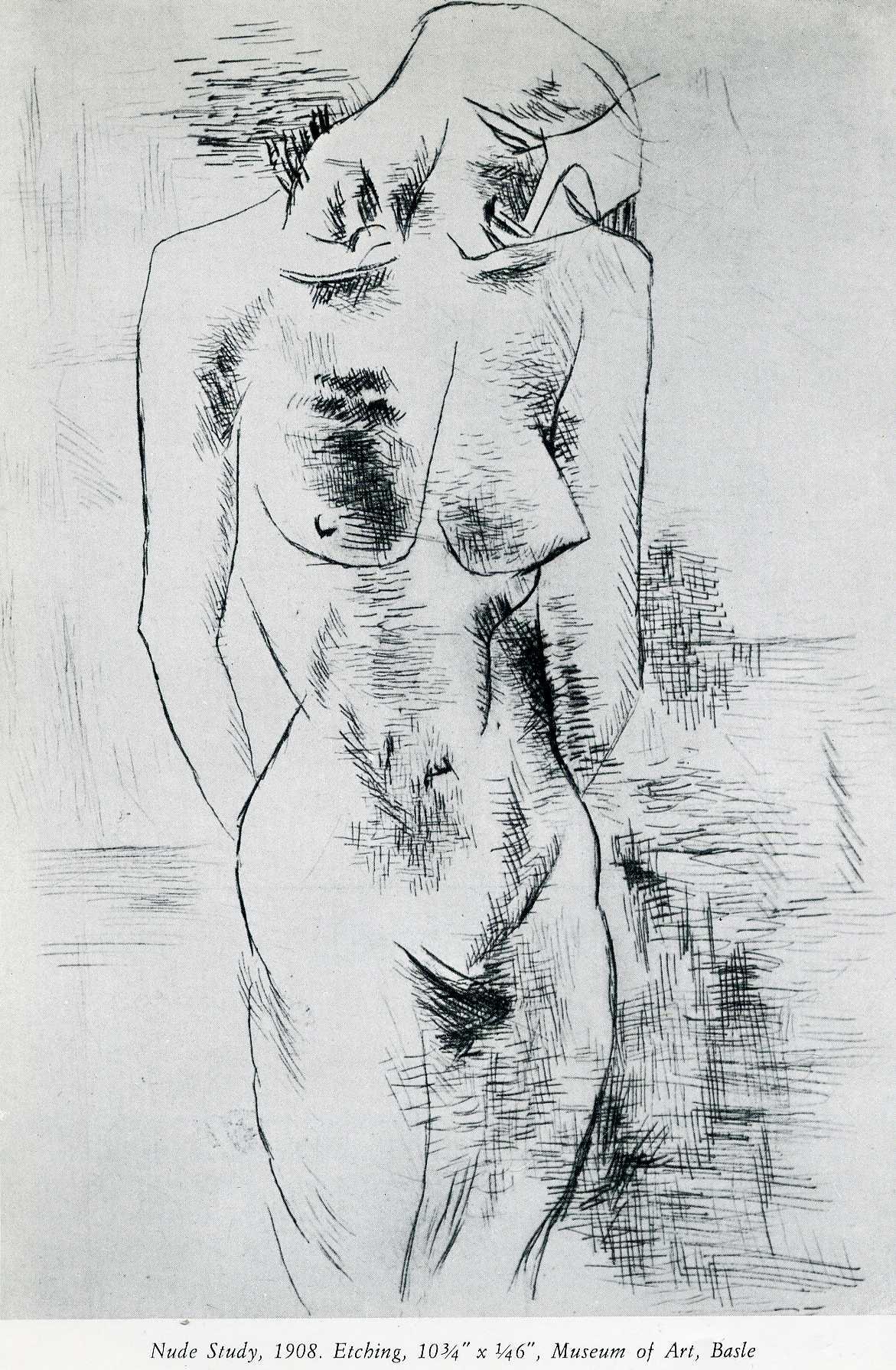Nude study, 1908