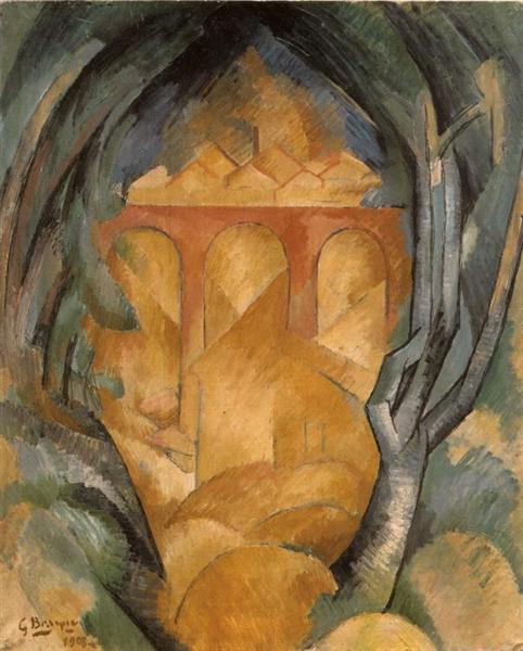 Viaduct at estaque 1908 georges braque for Braque oeuvres