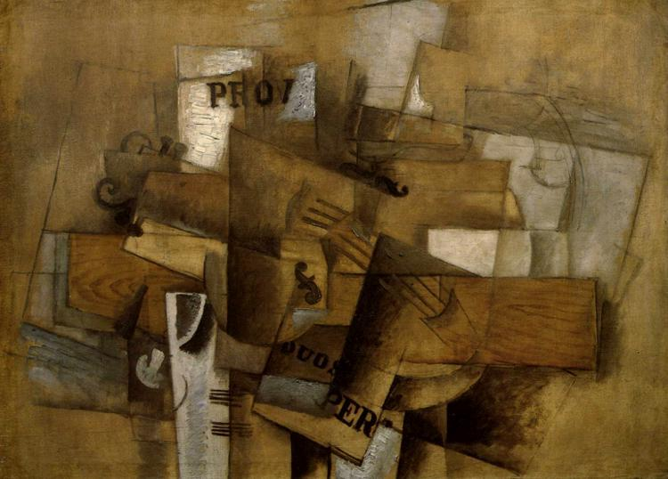Violin and Glass, 1913 - Georges Braque