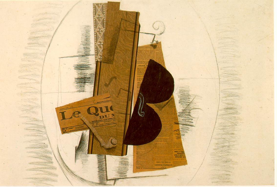 Connu Violin and Pipe, 'Le Quotidien', 1913 - Georges Braque - WikiArt.org GT17