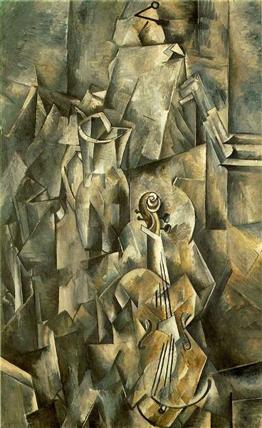Violin and pitcher - Braque Georges