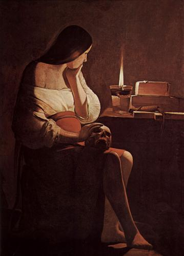 Mary Magdalene with a night light - Georges de la Tour