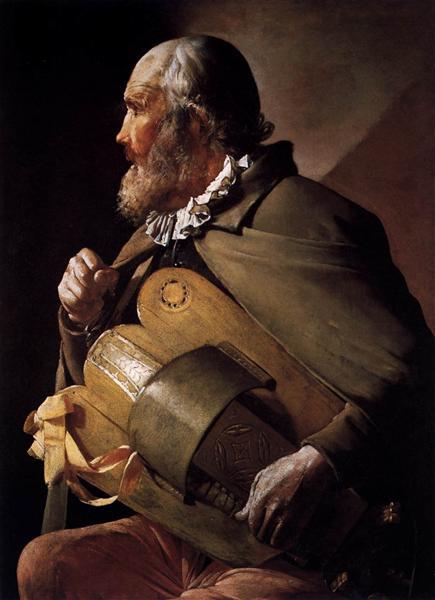 The Blind Hurdy Gurdy Player, 1620 - 1630 - Georges de la Tour