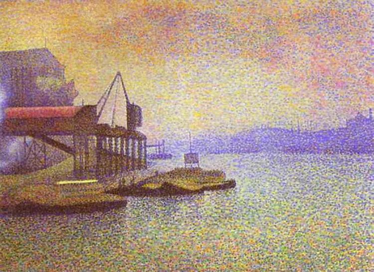 View of the Thames, 1892 - Georges Lemmen