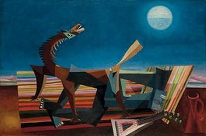 Hommage au Douanier Rousseau, le rêve de la bohémienne endormie, 1957 - Georges Papazoff