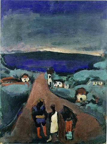 Trois Personnages dans un Paysage de Bretagne, 1915 - Georges Rouault