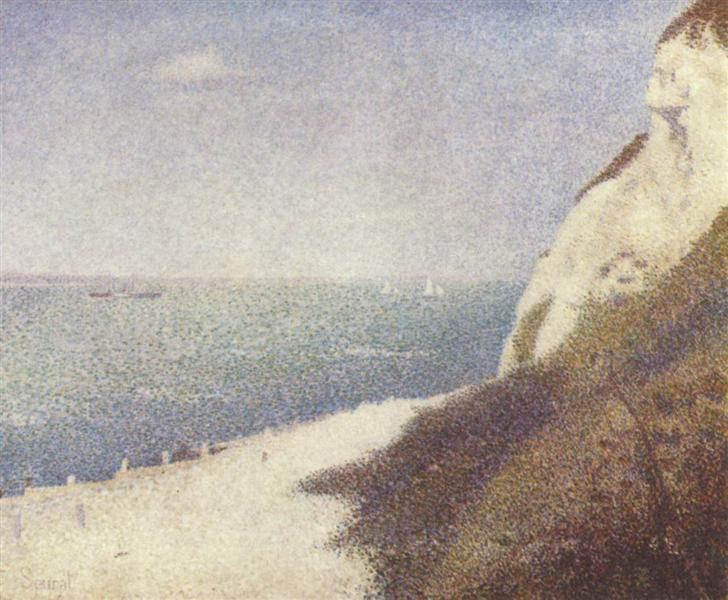 Beach at Bas Butin, Honfleur, 1886 - Georges Seurat