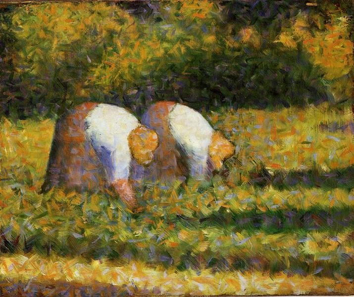 Farm Women at Work, 1882 - 1883 - Georges Seurat