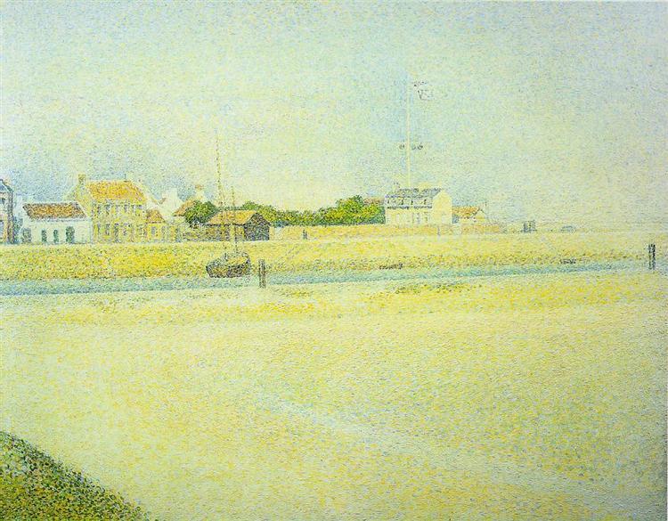 Канал в Гравлине, Большой Форт-Филипп, 1888 - Жорж Сёра