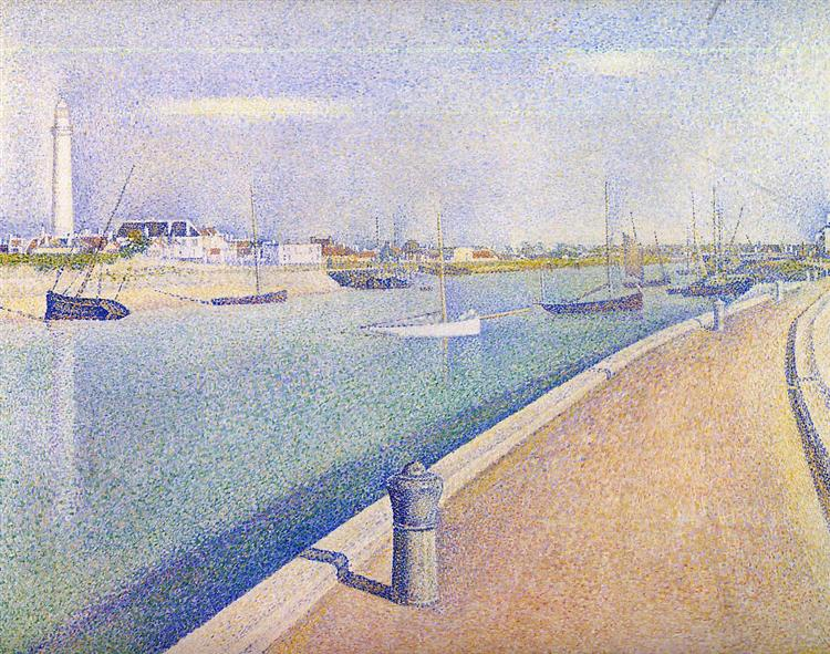 The Channel of Gravelines, Petit Fort Philippe, 1890 - Georges Seurat