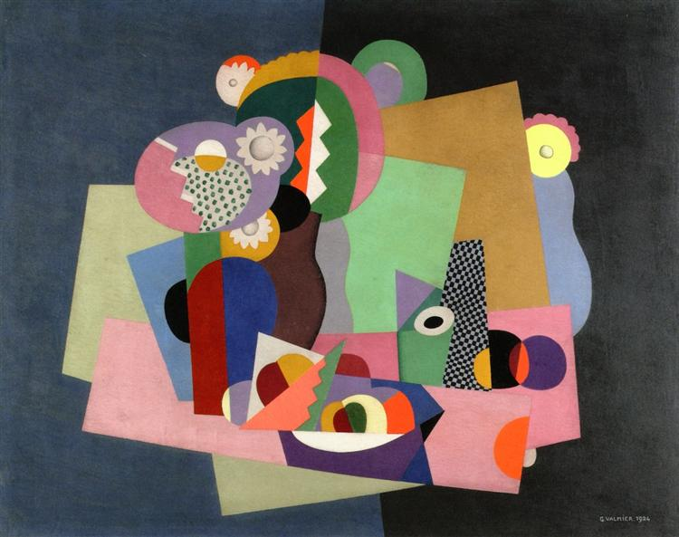Flowers and Fruit, 1924 - Georges Valmier