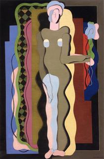 Nudo con un fiore - Georges Valmier
