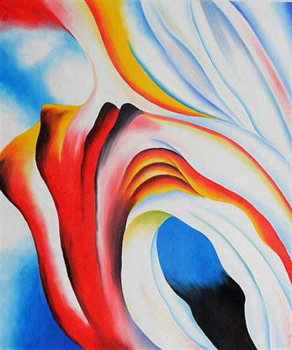 Music Pink and Blue - Georgia O'Keeffe
