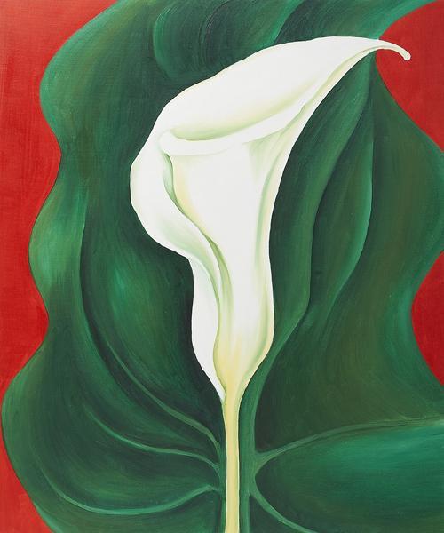 Single Calla Lily (Red) - Georgia O'Keeffe