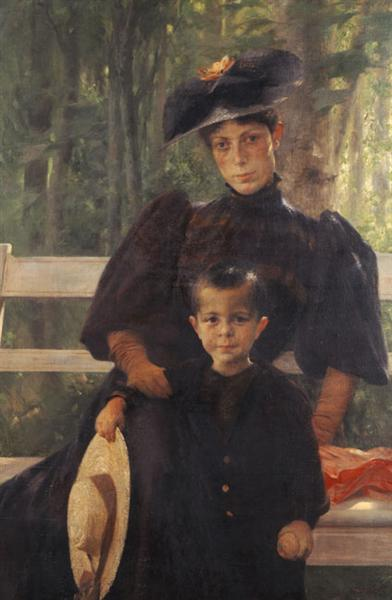 The Artist's Wife with Their Son, 1895 - Georgios Jakobides