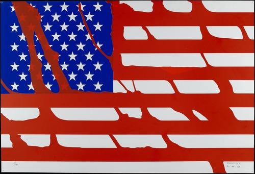 Drapeau américain (Le Rouge), 1968 - Gerard Fromanger