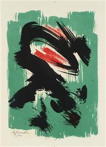 Untitled from 'Poèmes d'Eugenio Montale', Milan - Жерар Шнайдер