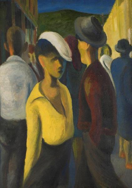 STREET BONHOMIE DISTRICT SIX, 1944 - Gerard Sekoto