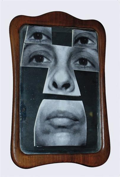 Self-Portrait in the Mirroir, 2001 - Geta Bratescu
