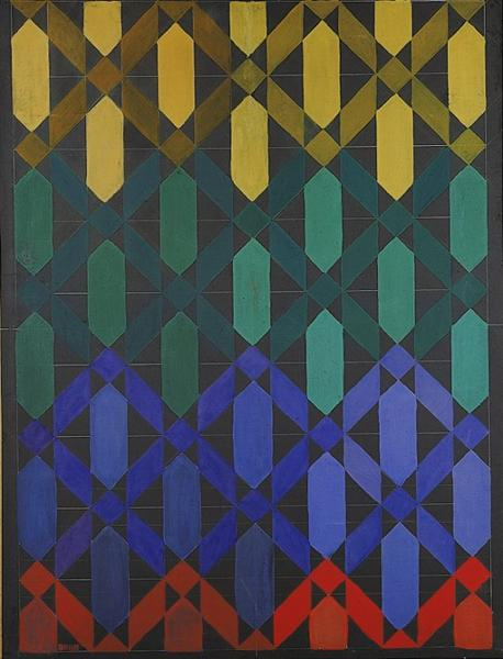 Iridescent Interpenetration No.13, c.1914 - Giacomo Balla