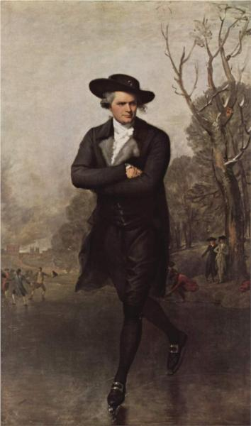 The Skater (Portrait of William Grant) - Gilbert Stuart