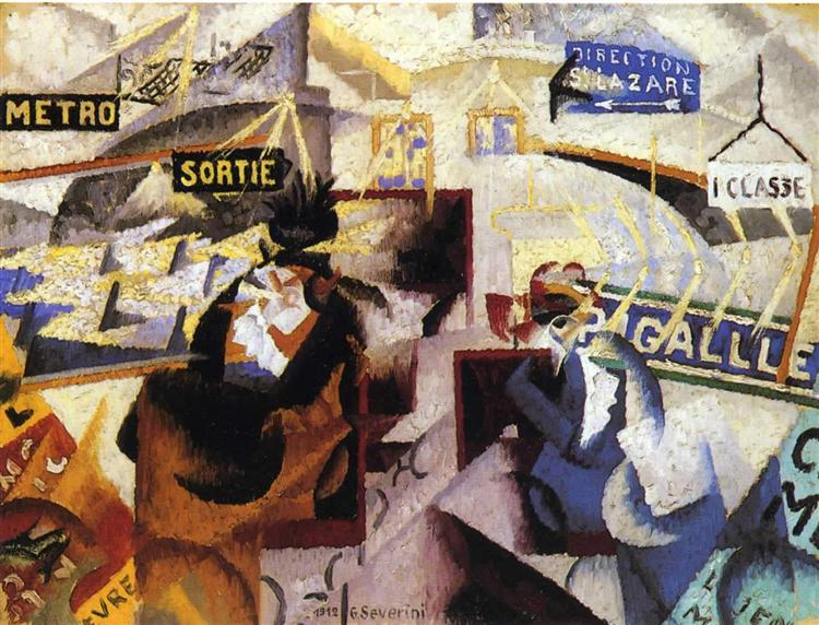 The north-south, 1912 - Gino Severini