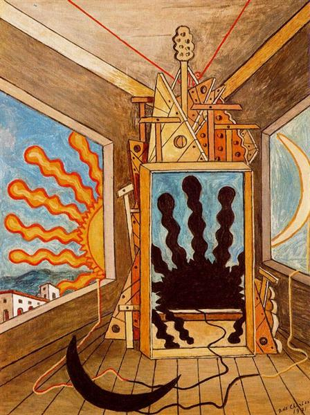 Metaphysical Interior with sun which dies, 1971 - Giorgio de Chirico
