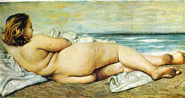 Nude Woman on the Beach, 1932 - Giorgio de Chirico